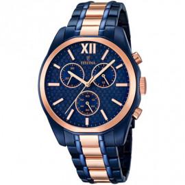 Orologio Festina Sport Prestige cint. e cassa oro rosa e blu F16857/1