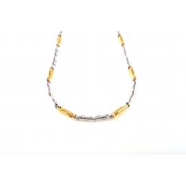 Collana in Oro 18 kt giallo e  bianco da Uomo S5126