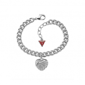 Women's GUESS UBB70205 Bracelet Plated in Rodio and Stones