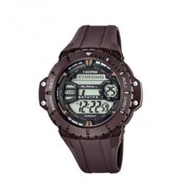 Calypso-Orologio da polso da uomo digitale, con Display LCD digitale e cinturino in plastica, colore: marrone, K5689/3