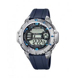 Calypso Orologio da polso digitale cinturino in plastica blu, K5689/4