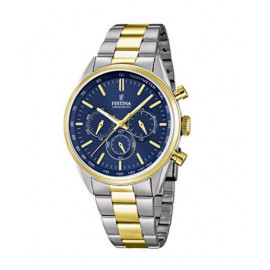 Festina Quartz Men's Watch with Chronograph Display and Two Tone Gold Plated Steel, F16821 / 3