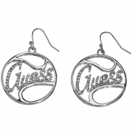 Women's GUESS JEWELS UBE12004 Earrings Plated in Rodio and Stones