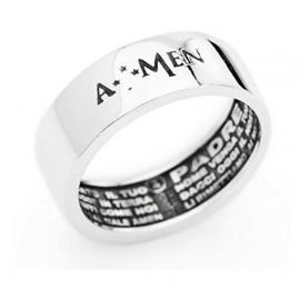 anello uomo gioielli Amen Padre Nostro misura 24 casual cod. APN-24