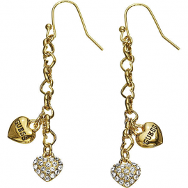 Women's GUESS UBE81150 Earrings Plated in Rodio and Stones
