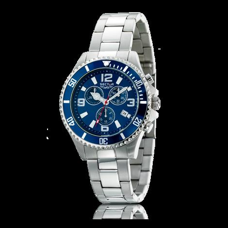 Orologio Uomo SECTOR R3273661035 Cronografo Cassa e Cinturino in Acciaio