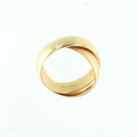 rivenditore all'ingrosso fa51e 80c7d Anello Donna in oro 18 kt modello doppio anello intrecciato cod.K0593  MISURA 14