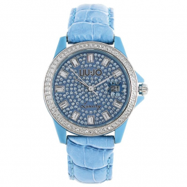 Women's Blue Watch LIU-JO TLJ079 Fibreglass Case Leather Strap