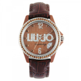 Women's Brown Watch LIU-JO TLJ108 Fibreglass Case Leather Strap