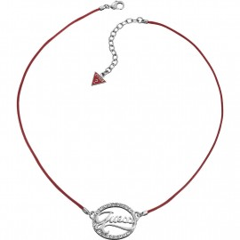 Necklace Women's Necklace GUESS UBN12104 Red Necklace Swarovski Steel Pendant