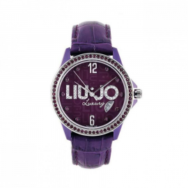 Violet Women's Watch LIU-JO TLJ116 Fibreglass Case Leather Strap