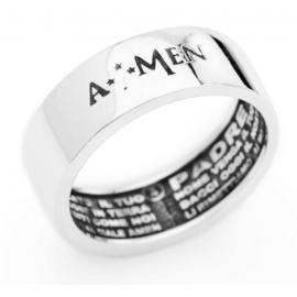 anello donna gioielli Amen Padre Nostro misura 16 casual cod. APN-16