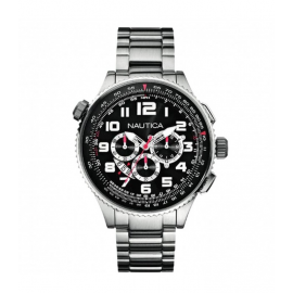 Men's Watch NAUTICA A29523G Chronograph Steel Strap