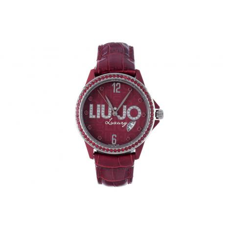 Orologio Donna Rosso LIU-JO TLJ169 Cassa Fibreglass Cinturino Pelle