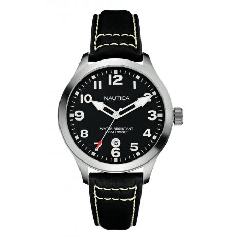 Orologio Uomo NAUTICA A14582G Cassa  Acciaio Cinturino Pelle Marrone