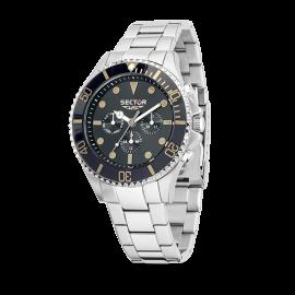 Orologio Uomo SECTOR R3253161005 Cronografo Cassa e Cinturino in Acciaio