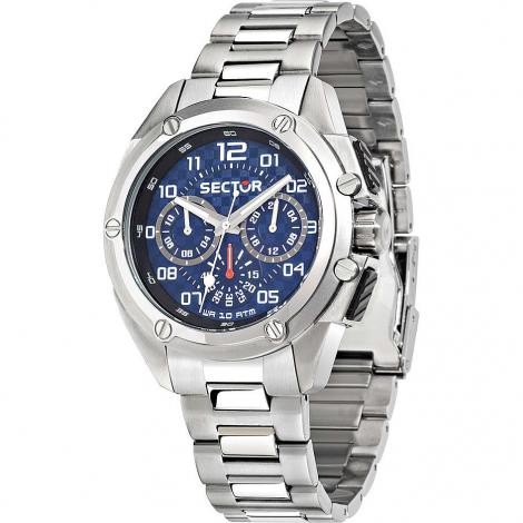 Orologio Uomo SECTOR R3253581002 Cronografo Cassa e Cinturino in Acciaio