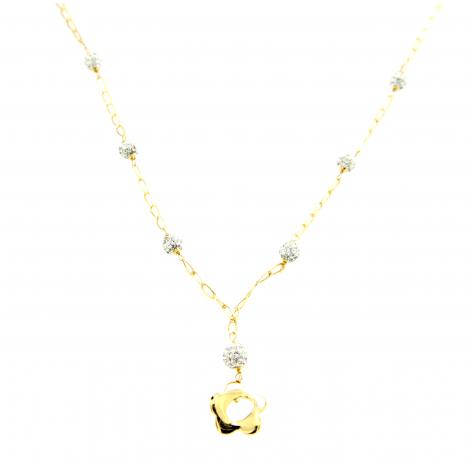 data di rilascio: a22f7 8b1cf Collana oro giallo donna pendente 18 kt 2,60 gr xk875