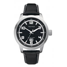 Orologio Uomo NAUTICA A13551G Cassa Acciaio Cinturino Pelle Nero