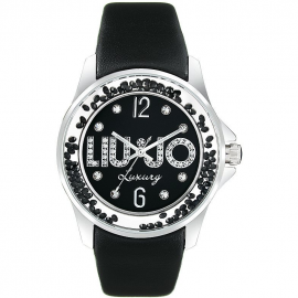 Black woman watch LIU-JO TLJ219 steel case leather strap