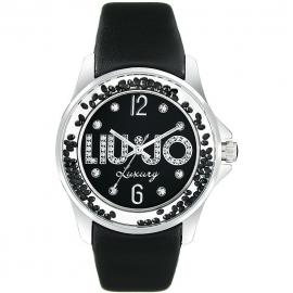 orologio donna nero LIU-JO TLJ219 cassa in acciaio cinturino in pelle