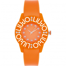 Orange woman watch LIU-JO TLJ286 polycarbonate case and bracelet