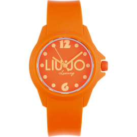 Orange woman watch LIU-JO TLJ279 polycarbonate case and bracelet