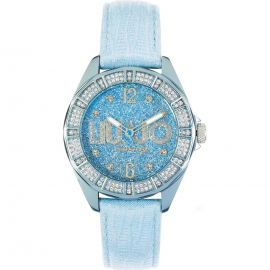 Blue woman watch LIU-JO TLJ321 aluminum case leather strap