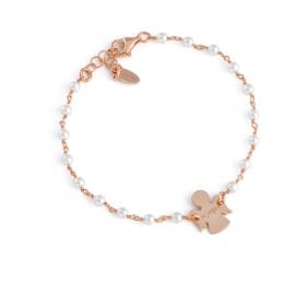 Angels Bracelet AG925 and Swarovski Pearls, Color: Rosè - Amen Collection