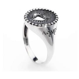 anello donna gioielli Amen Sacro Cuore misura 12 casual cod. ASC-12