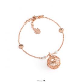 Bracciale Chiama Angeli AG925 e Perle, Colore: Rosè - Amen Collection