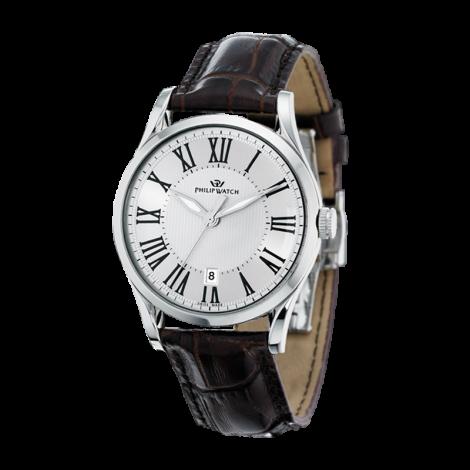 orologio uomo argento PhilipWatch R8251180003 cassa acciaio cint.pelle
