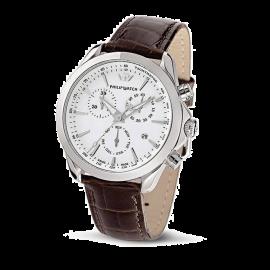 orologio uomo bianco PhilipWatch R8271995315 cassa acciaio cint. pelle