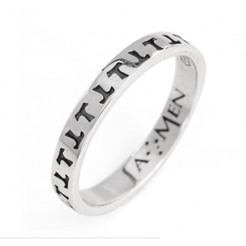 Tau AG925 Ring, Color: Rodio, Various Available sizes - Amen Collection
