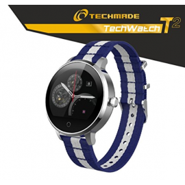 Smartwatch Techmade 1,22IPS cinturino tessuto + batteria portatile