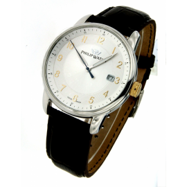 White man watch PhilipWatch R8251178004 steel case cint. skin