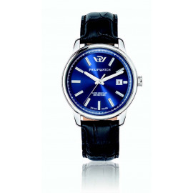 Blue man watch PhilipWatch R8251178008 steel case cint. skin