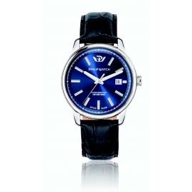 orologio uomo blu PhilipWatch R8251178008 cassa acciaio cint. pelle