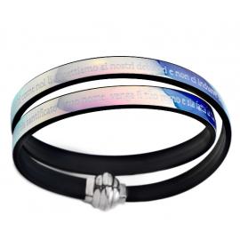 Bracciale Amen unisex gioielli misura 36 casual cod. TPNIT28-36