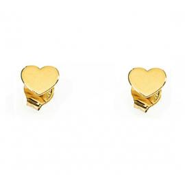 ORECCHINI AMEN in argento giallo con cuore