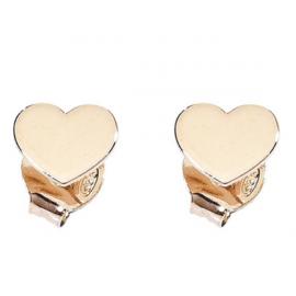 ORECCHINI AMEN in argento rosé con cuore