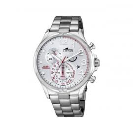 Lotus-Orologio da uomo al quarzo con Display con cronografo e cinturino in acciaio INOX color argento/10126 1