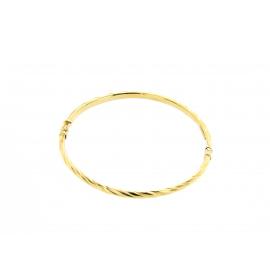 Bracciale Donna Oro Giallo 18Kt maglia rigida  peso 5,50 gr  K0003