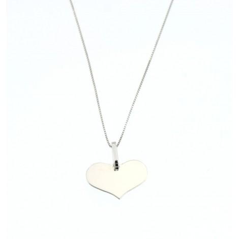 vasta selezione di cbb0a 4224f Cuore modello Tiffany con catenina Oro Bianco 18kt San Valentino