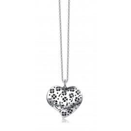 Collana donna gioielli Luca Barra in acciaio con ciondolo cuore CK1140
