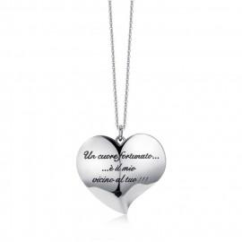 Collana donna gioielli Luca Barra Love con ciondolo cuore CK1138