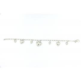 Bracciale San Valentino Argento cuori pendentiF18.00015