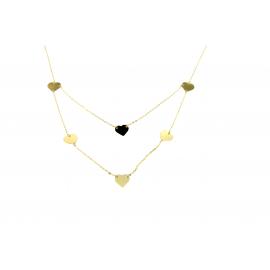 Women's gold necklace 18 kt 70cm 12,70gr bracelet knitwear KX0026