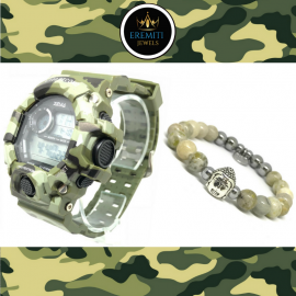 OUTFIT05 Orologio SPORT WATCH + Bracciale BUDDHA COLLECTION