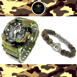 OUTFIT06 Orologio SPORT WATCH + Bracciale BUDDHA COLLECTION